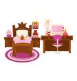 bedroom of little girl vector image