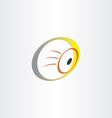 human eye optics symbol vector image