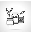Jam jars black line design icon vector image
