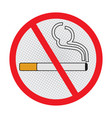 no smoking sign on white background - sign design vector image