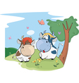 Two Cute Cows vector image