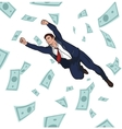 Young successful businessman Career Profit vector image