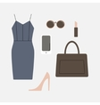 Set of business clothes for women vector image