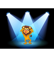 A scary lion at the center of the stage vector image vector image