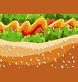 hot dog fast food pattern background eps vector image
