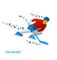 winter sports - ice hockey vector image