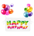 Happy Birthday Colorful Greetings Card vector image vector image