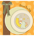 New baby arrived vector image