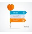 colorful dart arrow like options banner vector image vector image