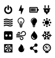 Electric Icons Set vector image