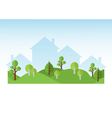 Green Trees And Houses Silhouettes vector image