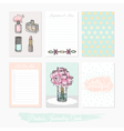 Printable set of journaling cards vector image