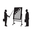 Black silhouettes of two businessmen vector image vector image
