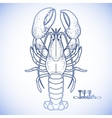 Graphic lobster vector image