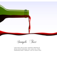 Pouring wine concept vector image vector image