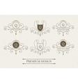 Set of luxury logo and monogram templates vector image