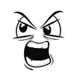 angry face cartoon expression vector image
