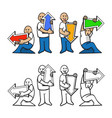 arrow direction action character vector image