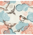 birds and clouds pattern vector image