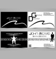 business card abstract creative set 9 vector image