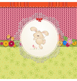 card rabbit vector image
