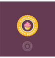 cupcakes and pastry bakery logo vector image