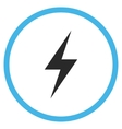 Electricity Flat Rounded Icon vector image