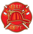 Fire Department or Firefighters Cross Symbol vector image