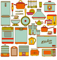 Kitchen appliances icons set vector image