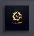 letter n premium logo concept design with golden vector image