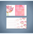 lotus yoga studio business card template vector image
