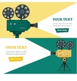 Professional Video Camera Banner Horizontal Set vector image