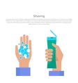 Shaving Concept Banner vector image