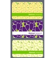 fruit business cards set vector image vector image