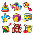 set toys vector image vector image