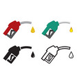 fuel nozzle and oil drop oil energy icon vector image