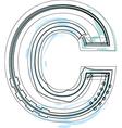 Font letter C vector image vector image
