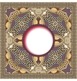 floral round pattern in ukrainian oriental ethnic vector image vector image
