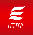 Abstract logo letter E in the form of petals vector image vector image