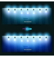 empty banner for product advertising with lighting vector image vector image