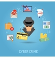Cyber Crime Concept vector image