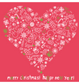 Christmas card with heart vector image