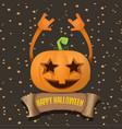 halloweenrock n roll pumpkin character vector image
