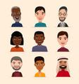 happy people avatar icon set vector image