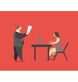 Head and Secretary vector image