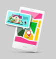 House icon on mobile phone application gps vector image