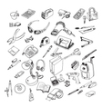 Office equipment vector image