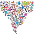 Social network light bulb idea vector image