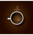 white cup of coffee flat lay coffee mug vector image