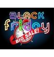Black Friday Sale alarm clock vector image
